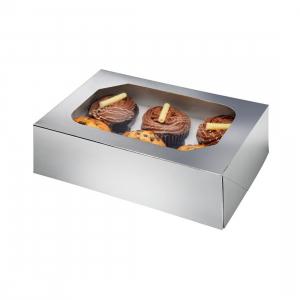 Club Green Cupcake Box - 6 Cavity - Metallic Silver