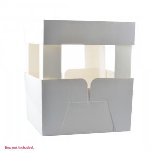 White Cake Box Corner Extenders (Set of 4)