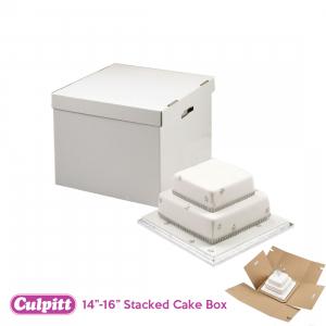"Culpitt Stacked Cake Box - 14"" / 16"""