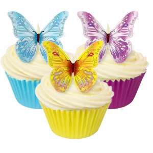 CDA Edible Wafer - Butterflies - Patterned Mix (Pack of 12)