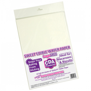 CDA Sweet Edible Wafer Paper (Pack of 12)
