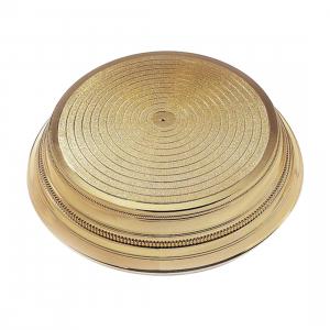 "Napier Cake Base Stand - Round - Gold Gloss - 14"""