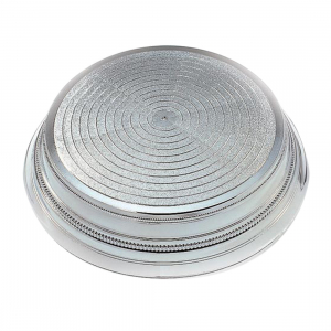 "Napier Cake Base Stand - Round - Silver Gloss - 14"""