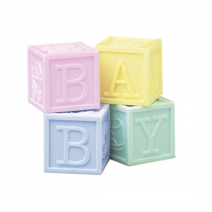 Culpitt Decoration - Baby Blocks (Set of 4)