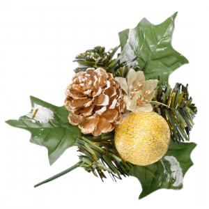 Club Green Decoration - Large Pine Cone with Bauble