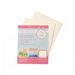 Cake Star Edible Wafer Paper - White (Pack of 12)