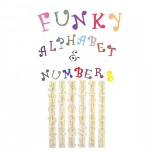 FMM Cutter Set - Alphabet Upper Case & Number - FUNKY