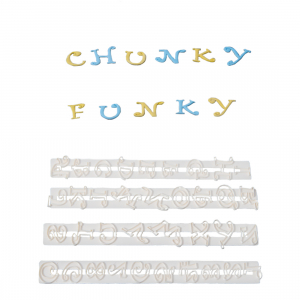 FMM Cutter Set - Alphabet Upper Case & Number - CHUNKY FUNKY