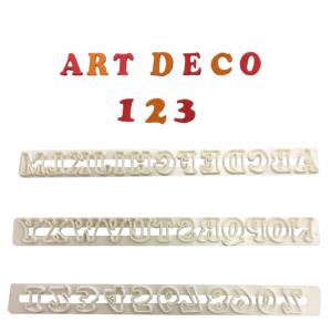 FMM Cutter Set - Alphabet Upper Case & Number - ART DECO