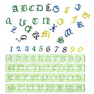 FMM Cutter Set - Alphabet Upper Case & Number - OLD ENGLISH