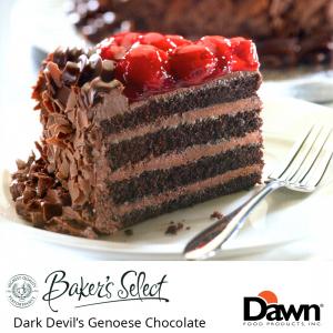 Dawn Foods Cake Base - Dark Devils Genoese Chocolate (12.5kg)