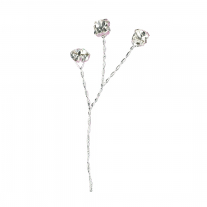 Culpitt Diamante Branches - Clear / Silver Wired (Pack of 6)