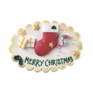 Culpitt Sugar Plaque - Merry Christmas / Stocking & Presents (Box of 5)