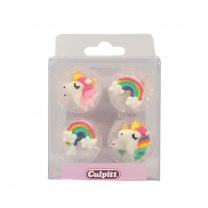 Culpitt Sugar Pipings - Unicorn & Rainbow (Pack of 12)