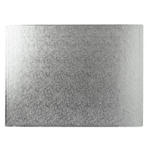 "Cake Board Hardboard - Oblong - Silver - 18"" x 14"""