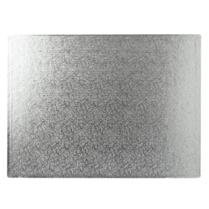 "Cake Board Hardboard - Oblong - Silver - 16"" x 14"""
