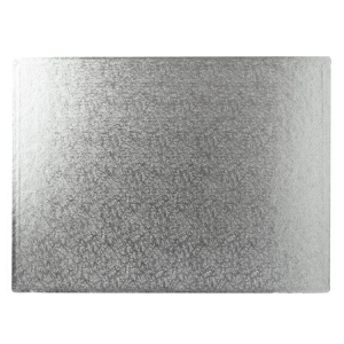 "Cake Board Hardboard - Oblong - Silver - 18"" x 12"""