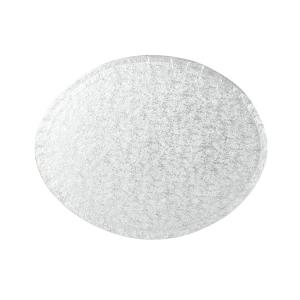 "Cake Board Drum - Oval - Silver - 10"" x 8"""