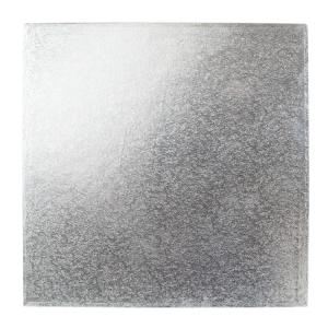 "Cake Board Hardboard - Square - Silver - 8"""