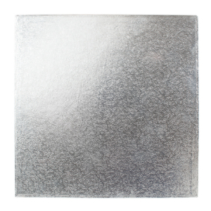 "Cake Board Hardboard - Square - Silver - 12"""