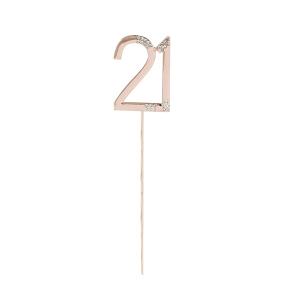 Club Green Cake Topper - Rose Gold & Diamante - 21