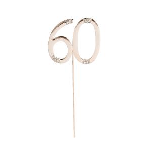 Club Green Cake Topper - Rose Gold & Diamante - 60