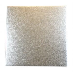 """Double Thick Cut Edge Cake Cards - Square - Silver - 6"""" (Pack of 25)"""