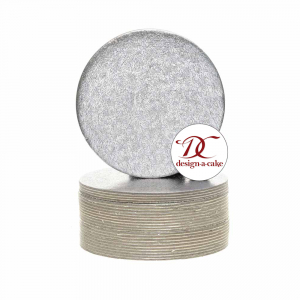 """Single Thick Cut Edge Cake Cards : 1.1mm - Round - Silver - 5"""" (Pack of 100)"""