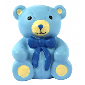 Anniversary House Cake Decoration - On Your Christening Blue Teddy