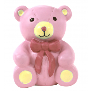 Anniversary House Cake Decoration - On Your Christening Pink Teddy