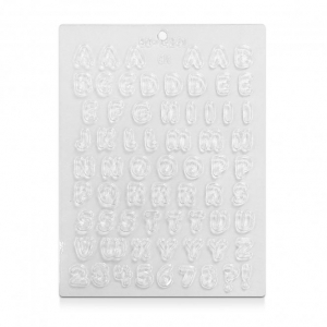 CK Products Chocolate & Candy Mould - Letters & Numbers