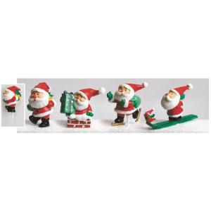 Culpitt Cake Pick Decoration - Large Santa (Pack of 12)