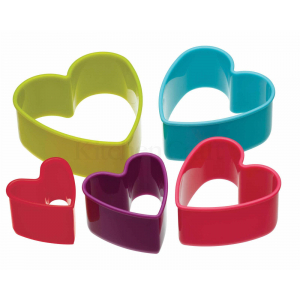 Colour Works Cookie Cutter - Heart (Set of 5)