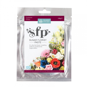 Squires Kitchen Sugar Florist Paste - Cyclamen / Ruby (100g)