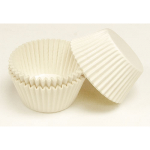 DAC Plain Muffin Baking Cases - White (Bulk Pack)