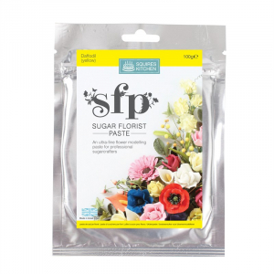 Squires Kitchen Sugar Florist Paste - Daffodil / Yellow (100g)
