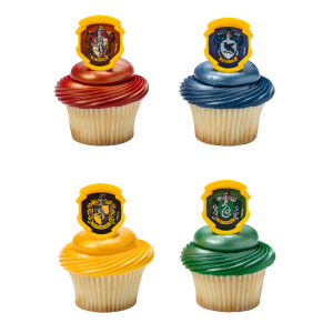 DecoPac Cake Ring Decoration - Harry Potter™ - Hogwarts™ Houses (Pack of 144)