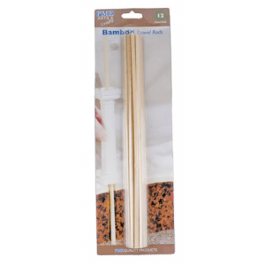 """PME Bamboo Dowel Rods - 12"""" (Pack of 12)"""