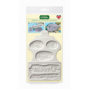 Katy Sue Designs Mould - Driftwood and WordStones