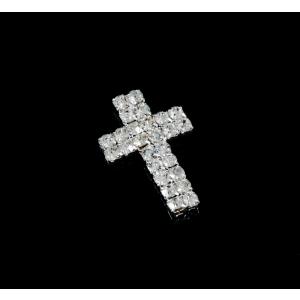 Diamante Designs - Cross Mini - Silver