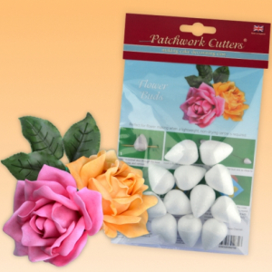 Patchwork Cutters - Flower Buds - 35mm (Pack of 12)