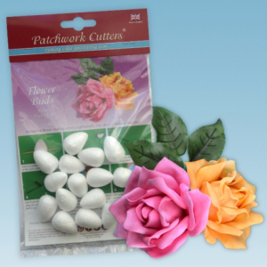 Patchwork Cutters - Flower Buds - 30mm (Pack of 15)