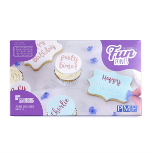 PME Fun Fonts - Collection 1 - Cupcake & Cookie Set (66 Pieces)