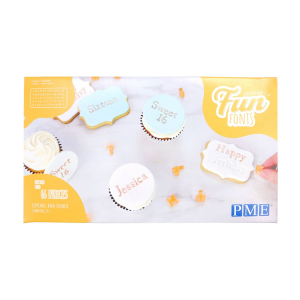 PME Fun Fonts - Collection 2 - Cupcake & Cookie Set (66 Pieces)