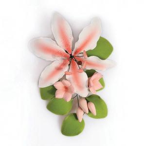 Culpitt Gum Paste Flower - Rubrum Lily Spray - Medium