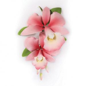 Culpitt Gum Paste Flower - Orchid Spray - Pink