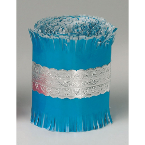 Culpitt Cake Frill - Blue with Silver Lace Foil Band - 22m
