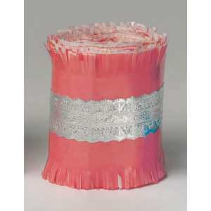 Culpitt Cake Frill - Pink with Silver Lace Foil Band - 22m