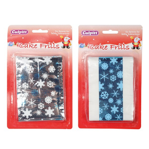 Culpitt Christmas Frills - Metallic Foil Snowflakes (Bulk Pack of 10)