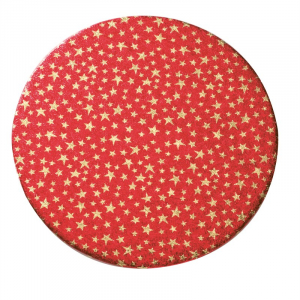 """Christmas Double Thick Cake Cards - Round - Stars - 10"""" (Pack of 5)"""